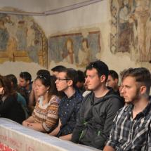 Elsőéves hallgatók a magyarvistai templomban